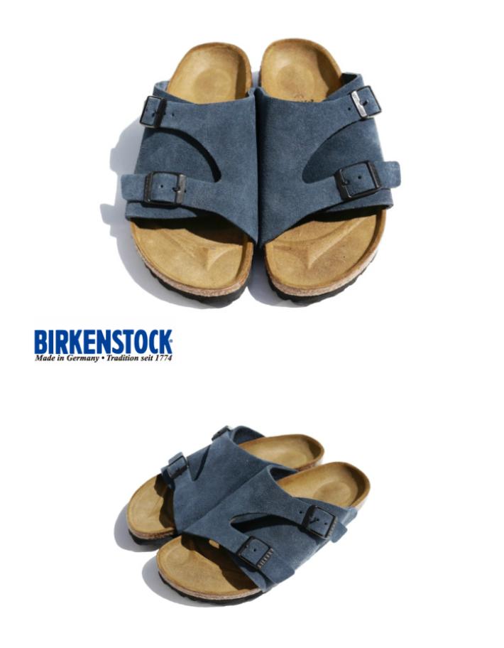 BIRKENSTOCK(ビルケンシュトック) Zurich チューリッヒ【GC1010755】【BLUE】【送料無料】【国内正規品 保証書付き】【幅狭 ナロー】