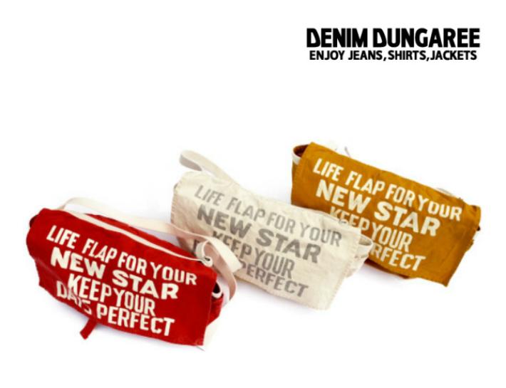 【送料無料】2019S/S DENIM DUNGAREE デニム&ダンガリー 992011NEW STAR ショルダー BAG【F】【5 レッド】【11 オフホワイト】【20 マスタード】