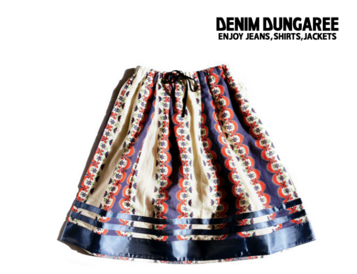 2019S/S DENIM DUNGAREE デニム&ダンガリー 792801シーチング ソウガラPT スカート【130cm~140cm】【4 ネイビー】