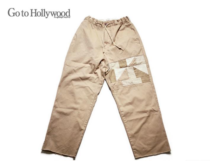 【送料無料】2020 S/S Go to Hollywood ゴートゥハリウッド 1202608コンパクトチノ リメイク パンツ【01(150)~02(160)】【16 ベージュ】