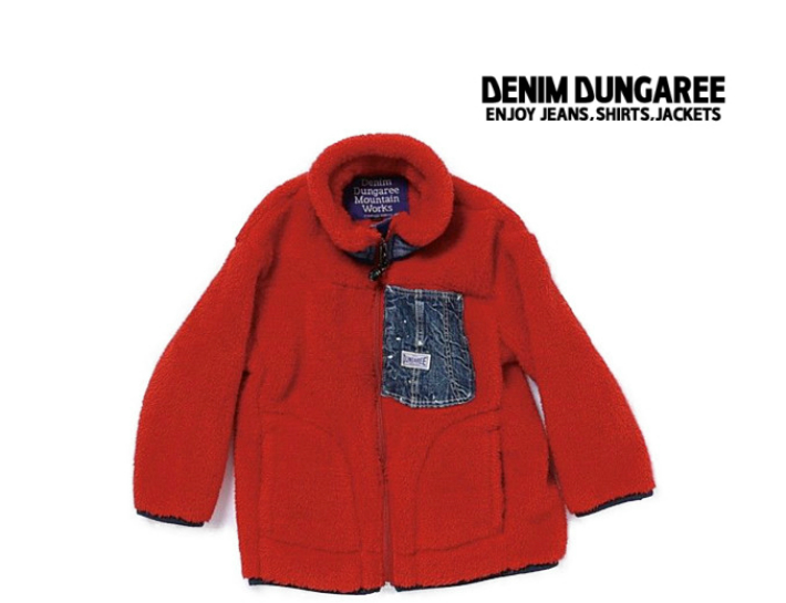 2020A W デニム ダンガリー DENIM DUNGAREE 卸直営 denimdungaree 与え  5 レッド ジャケット 子供服ブランド 130~140cm DD 708214ヘブンリーボア