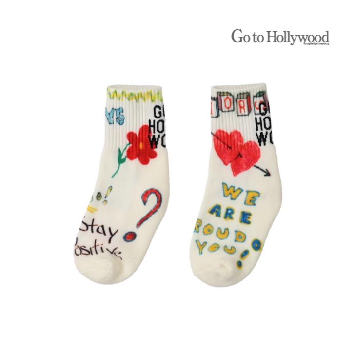 2021 A W Go to Hollywoodゴートゥーハリウッド 1418019ラクガキ SOCKS L 今だけスーパーセール限定 LL M OUTLET SALE 16-18 22-24 19-21 クレイジー