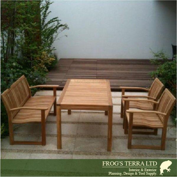 世界トップクラスのプレミアムガーデンファニチャー Rectangular Table 140 01-111 Istana Terrace イスタナテラス ダイニングテーブル140 チーク材 屋外家具 ガーデンファニチャー