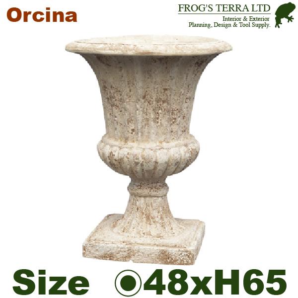 ANTICO オルシナ GI 48(直径48cm×H65cm)(底穴あり)(陶器鉢 テラコッタ)(プランター テラアストラ 寄せ植え ポット)