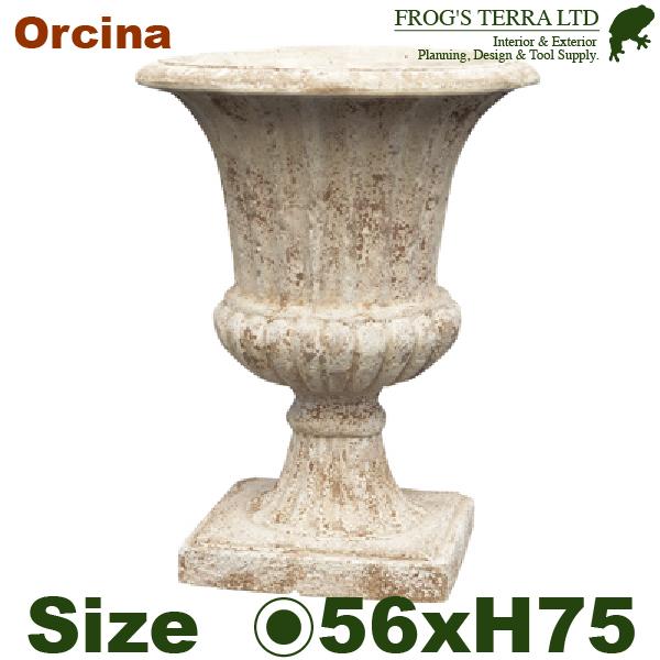 ANTICO オルシナ GI 56(直径56cm×H75cm)(底穴あり)(陶器鉢 テラコッタ)(プランター テラアストラ 寄せ植え ポット)
