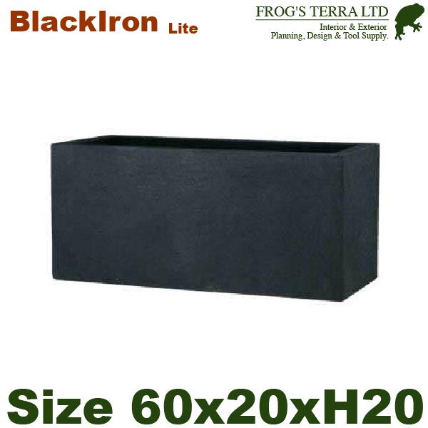 Black Iron Lite・BL キンロス・S・長角プランター(W60cm×D20cm×H20cm)(FRP/ファイバークレイ)(底穴あり/軽量プランター)