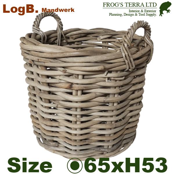 モンデリック ログバスケット 65 Mandwerk(直径65cm×H53cm)(底穴なし)(尺鉢対応 ラタン プランター ポット 観葉鉢 園芸 寄せ植え)
