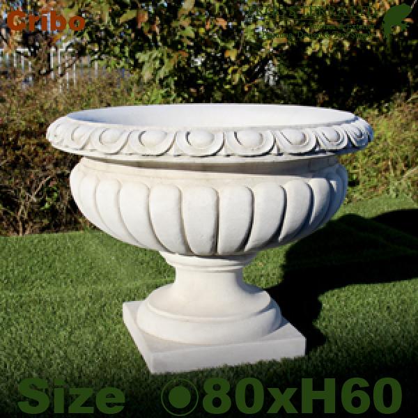 クリーボ ITALGARDEN(直径80cm×H60cm)(イタリア製 植木鉢 鉢カバー 大理石セメント製 プランター 観葉鉢 イタリアン)
