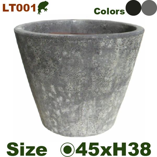 ブラストポット LT001M(直径45cm×H38cm)(底穴あり 土もの 陶器鉢 テラコッタ プランター 園芸 削り加工 ポット)