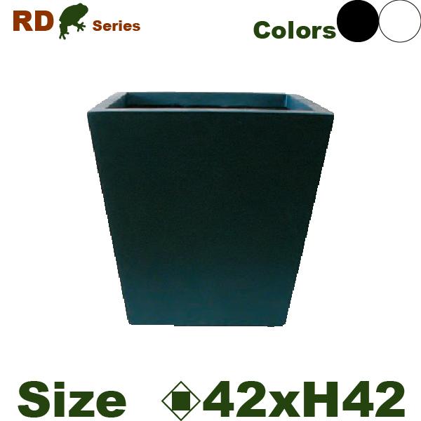 鉢カバー・RD-02M・スクエア(口42cm×H42cm)(軽量プランター/鉢)(底穴なし)(グラスファイバー/樹脂製)(観葉植物用)