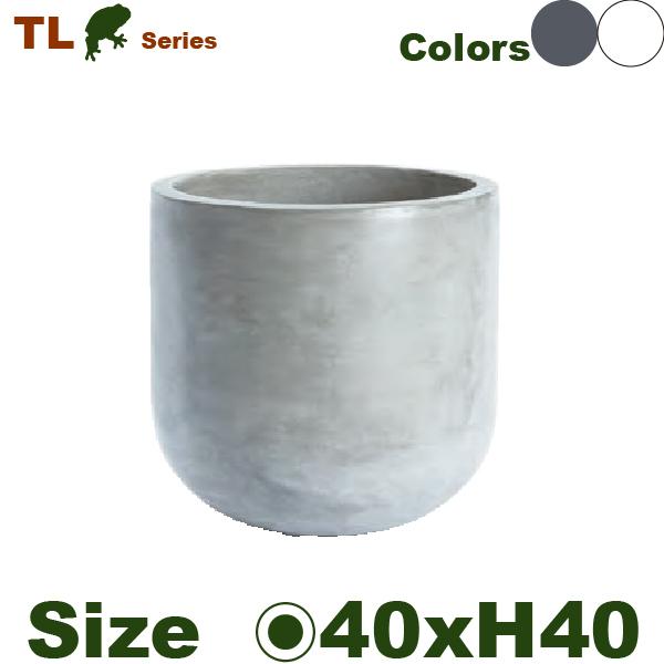 鉢カバー・TL01L(直径40cm×H40cm)(底穴なし)(軽量プランター/セメント製)(鉢/ポット/花器/園芸/観葉植物用)(ニュートラルカラー)