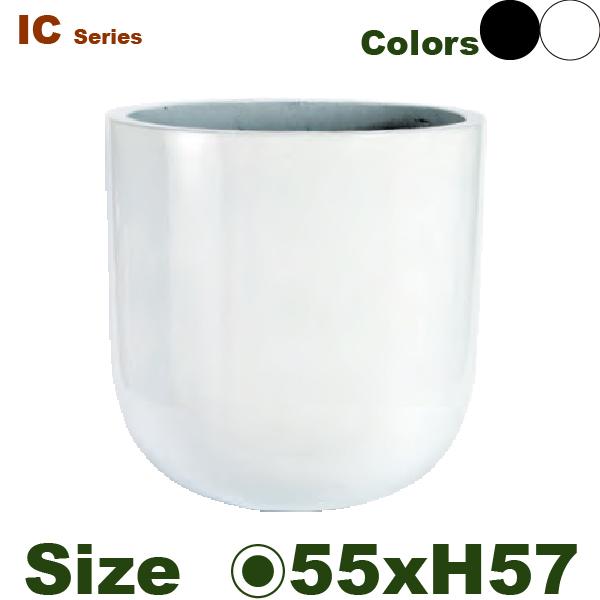 鉢カバー・IC06L(直径55cm×H57cm)(底穴なし)(軽量プランター/セメント製)(鉢/ポット/花器/園芸/観葉植物用)(ニュートラルカラー)