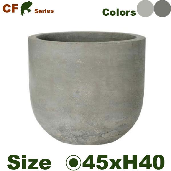 セメント製ナチュラルな色合いの新商品 CF ラウンド L 直径45cm×H40cm 底穴あり 有名な 尺鉢対応 鉢 ポット 園芸 プランター セメント モデル着用&注目アイテム 観葉鉢 ファイバー