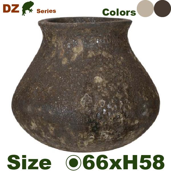 DZ 丸壺(直径66cm×H58cm)(穴あり)陶器製 観葉鉢 大型ポット 商業施設
