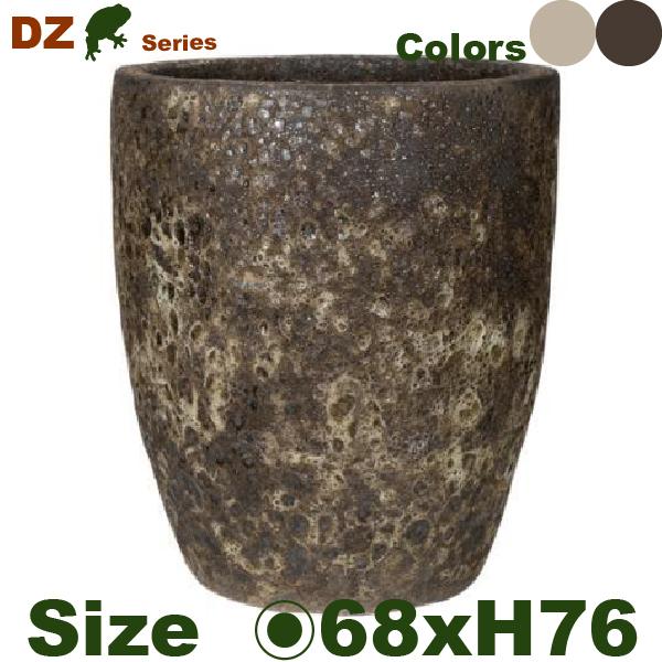 DZ ハイラウンド L(直径66cm×H76cm)(穴あり)(尺鉢対応)陶器製 観葉鉢 大型ポット 商業施設