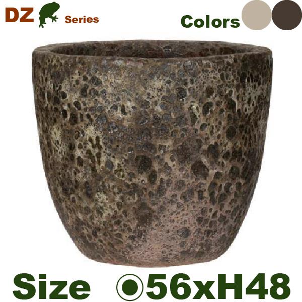 DZ ラウンド L(直径56cm×H48cm)(穴あり)(尺鉢対応)陶器製 観葉鉢 大型ポット 商業施設