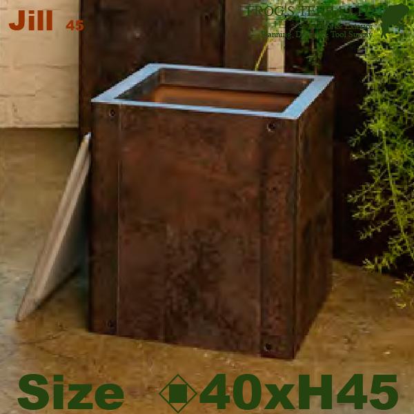 ジル45・CI-118・鉄製・鉢カバー・鉄器(ロ40cm×H45cm)(底穴なし)(アンティーク風/鉄製)(壺/鉢/観葉植物用)