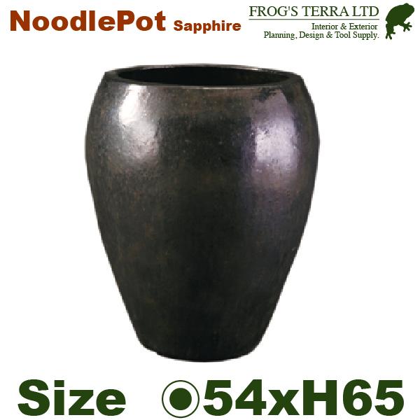 ヌードルポットサファイア・FS3039SE(直径54cm×H65cm)(底穴あり)(陶器製)(観葉鉢)