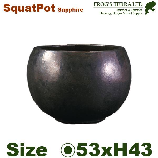 スクワットポットサファイア・FS2305SE(直径53cm×H43cm)(底穴あり)(陶器製)(観葉鉢), ファッションウォーカー:f3c63650 --- sunward.msk.ru