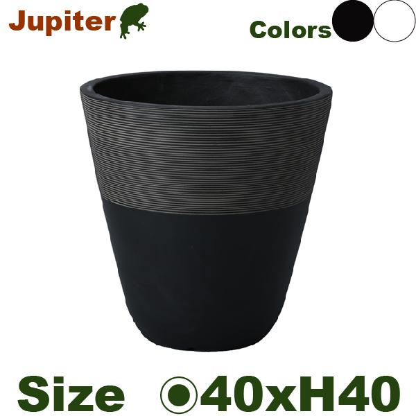 ジュピター・M・TL001-1MWh/Bk(直径40cm×H40cm)(底穴なし/あり)(セメントファイバー)(プランター/ポット/観葉鉢/鉢/園芸/ガーデニング)