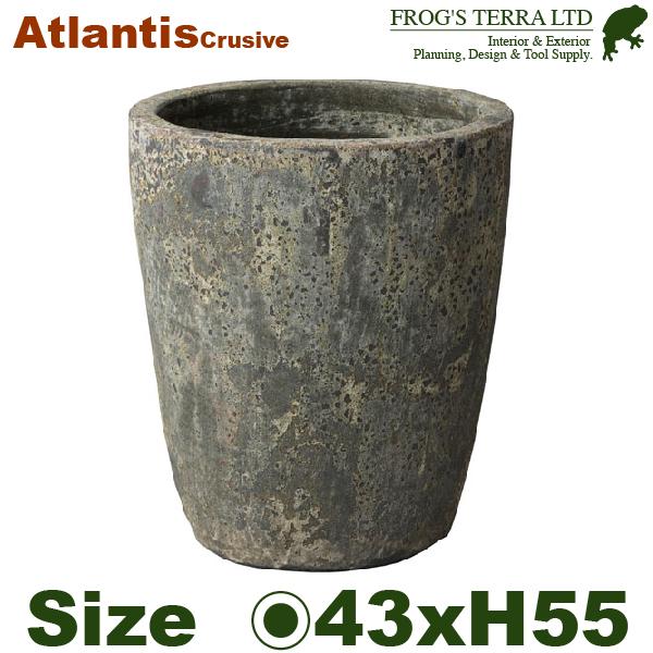 アトランティスクルーシブルL・FS6068AL・Atlantis(直径43cm×H55cm)(底穴あり)(陶器製)(観葉鉢)