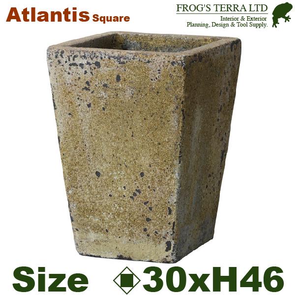 アトランティススクエアM・FS6006ADM・Atlantis(ロ30cm×H46cm)(底穴あり)(陶器製)(観葉鉢)