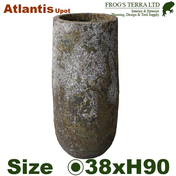 アトランティスUポットL・FS63501AD・Atlantis(直径38cm×H90cm)(底穴あり)(陶器製)(観葉鉢)