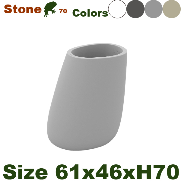 Vondom Stone・ボンドム ストーン70・VN-55009A・(W61cm×D46cm×H70cm)(底穴あり/なし)(ポリエチレン樹脂)(プランター/ポット)(観葉鉢/園芸)