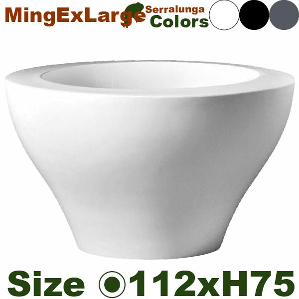 ミングエクストララージ・SD-400-113・(直径112cm×H75cm)(セラルンガ/Serralunga)(ポリエチレン樹脂)(プランター)