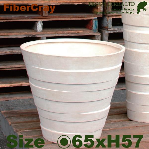 ラインポット・F9853(直径65cm×H57m)(ファイバーグラス/ファイバークレイ)(植木鉢/鉢カバー)(底穴あり/軽量プランター)