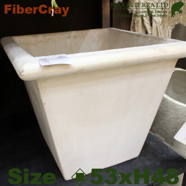 リムスクエア・L・F9846(ロ53cm×H48cm)(ファイバーグラス/ファイバークレイ)(植木鉢/鉢カバー)(底穴あり/軽量プランター)