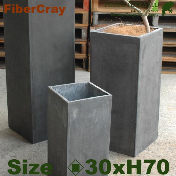 シンプルながら個性的なラインナップ ピラープランター・M・F9821(ロ30cm×H70cm)(ファイバーグラス/ファイバークレイ)(植木鉢/鉢カバー)(底穴あり/軽量プランター)