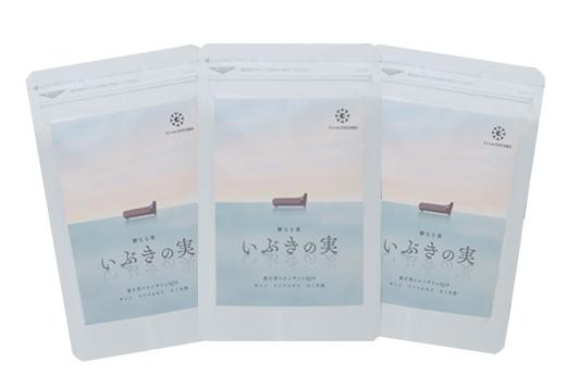 サプリ コエンザイムQ10 えごま油 発酵ギャバ ラフマエキス  【公式】夜の騒音ケアサプリ いぶきの実 1袋60粒入り 3袋セット