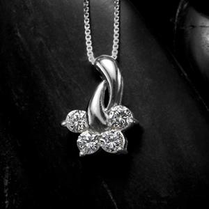 劳拉K14 WG白色合金项链  珠宝礼物礼品圣诞节生日结婚纪念日