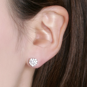 90f63096f7e fromny  Pure and cute heart earrings ~ Pure Heart White Gold ...