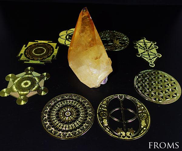 古代神聖幾何学コンプリート8種類エナジーカード○