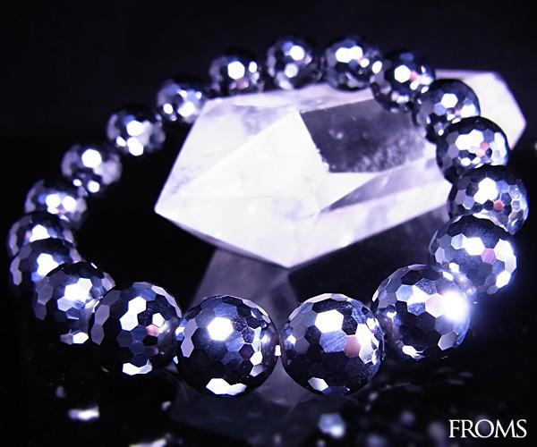 Mirror cut AAAAA terahertz ore (high purity silicon) bracelet