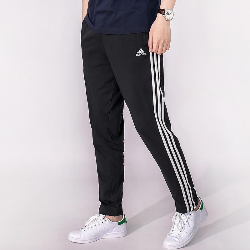 Adidas trackpants men adidas jersey three ライントレーニングウェアー 3 stripe long  underwear gym sweat pants amount-limited