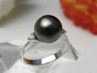 13号 指輪 SV 9ミリ黒蝶 黒蝶パール 送料無料『 リング』黒蝶真珠 お買い得 真珠リング