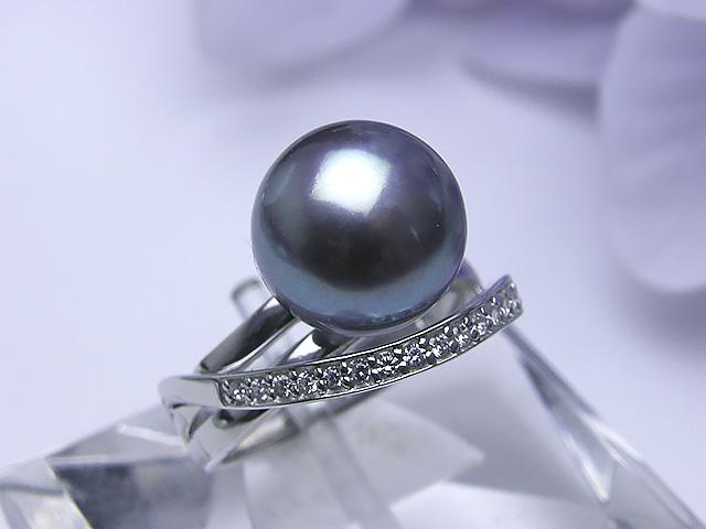 真珠リング 送料無料SV令和有核淡水真珠リングパール ジュエリー パープル 真珠婚 30年 パーティー1点限り プレゼント お祝い 誕生日 淡水真珠