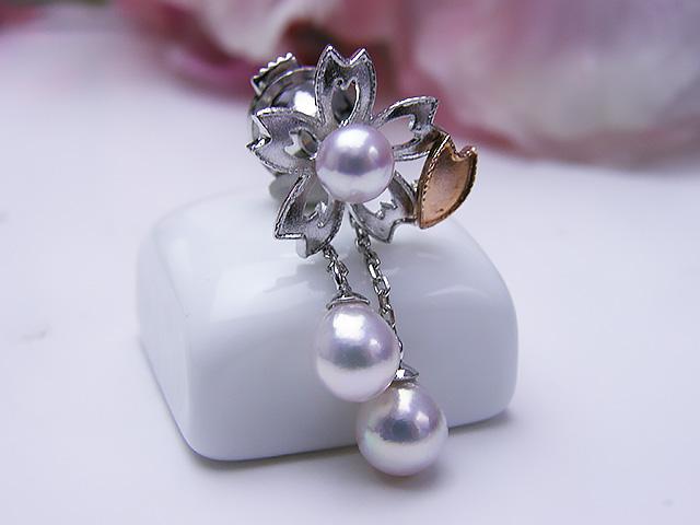 真珠ブローチ 送料無料ワタシもガンバル散らない桜 タイニーピンFJlK1cT3