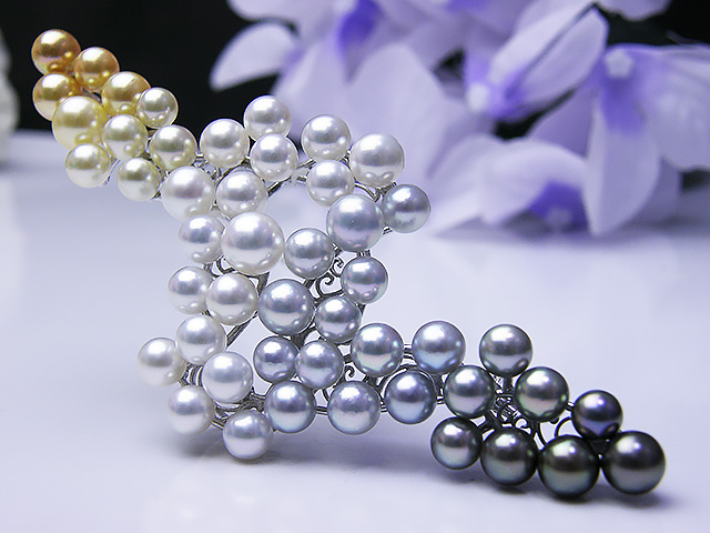 真珠ブローチ 送料無料真珠ブローチ『 夜明け近し 』 パール ジュエリー 入学式 真珠婚 30年 おすすめ品 あこや真珠 豪華 冠婚葬祭 1点限り 誕生日