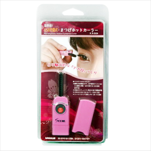It is convenient and recommends it that charge-type, a hot eyelash curler of the S Cal eyelashes hot curler - popularity can easily charge USB and carries it as it is compact!