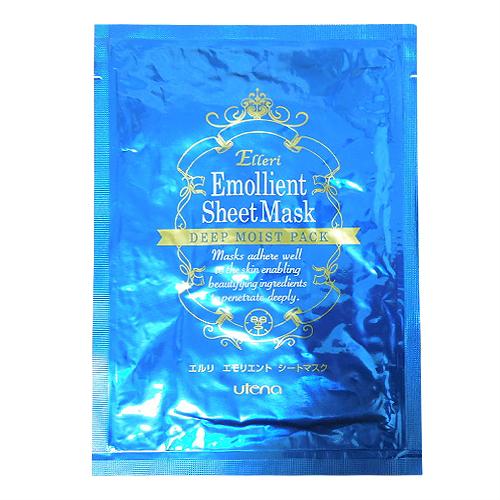 utenaeruriemorientoshitomasuku(Elleri Emollient Sheet Mask)15mL x5张(尝试事情) - 美容液充分渗入的全脸部用面罩。NEW组件。