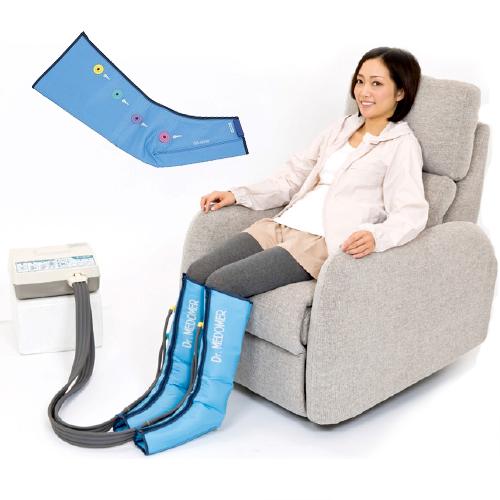 【家庭用エアマッサージ器】ドクターメドマー(Dr.MEDOMER) DM-6000 ショートブーツセットx脚用ショートブーツ(SB-6000) - エアマッサージで健康な身体づくり。お好みで選べる4種類のマッサージモード。【smtb-s】