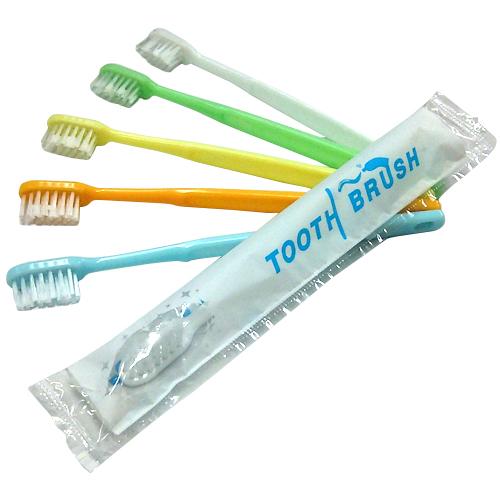 <title>PM2時迄 土日OK のご注文は本日発送致します ネコポス全国送料無料 ホテルアメニティ 使い捨て歯ブラシ 個包装タイプ 業務用 粉付き歯ブラシ x1本 数量は多 全5色から選択 - 磨き粉が付着しているので すぐに使える便利な歯ブラシ 携帯にも便利です smtb-s</title>
