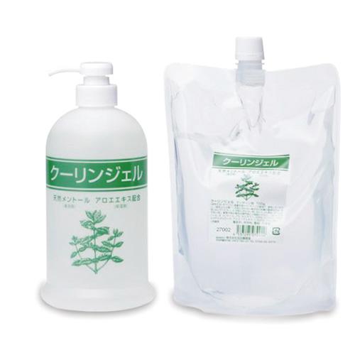 【メントール使用】クーリンジェル 業務用700gボトル&詰替えパック700gセット - アロエエキスを配合し、保湿効果を高めてあります。テーピングの上からでもご使用いただけます。【smtb-s】