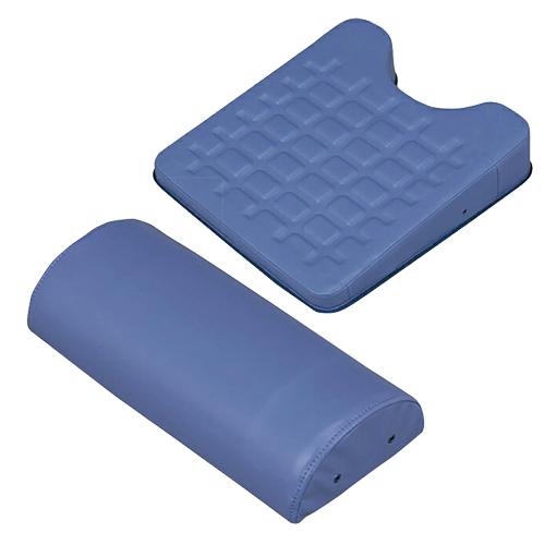 【正規代理店】カナケン治療用枕 EXシリーズ EXGEL(エックスジェル) EX半円マクラ + EXバストマットセット - 新感触エックスジェルをぜいたくに使用し質感を高めました。スベリ止めが付き、安定感抜群です。【smtb-s】