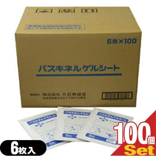 【あす楽対応】【貼付型冷却材】パスキネルゲルシート 10×14cm(1袋6枚入り) x100個(1ケース売り) - 心地よい使用感が得られる成分・サリチル酸メチル、l-メントール、dl-カンフルを配合【smtb-s】