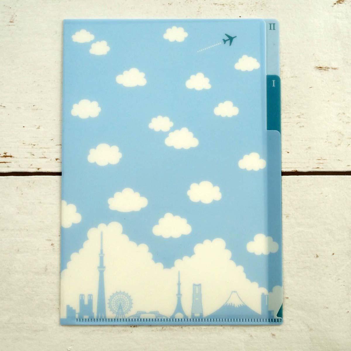 評判 かわいい雲のクリアフォルダーでオシャレに書類の整理 クリア